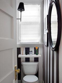 banheiro decor listras