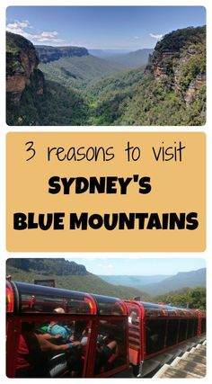3 reasons you need to travel on a day trip to the Sydney Blue Mountains national park in New South Wales Australia.  Visit the Three Sisters, and adventure in nature