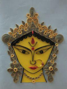 Quilling Durga