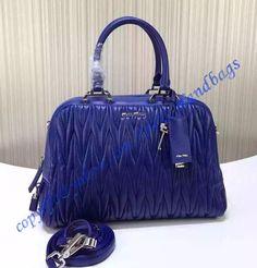 8edc9d0389 Miu Miu Matelasse Bowler Royal Blue sale at USD404.00 - Free Worldwide  shipping. LuxTime DFO Handbags