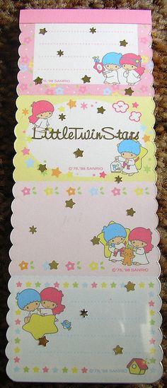 【1998】Memo Pad ★Little Twin Stars★
