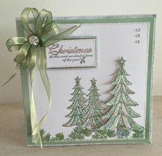 Facebook Die Cut Christmas Cards, Beautiful Christmas Cards, Merry Christmas Card, Xmas Cards, Christmas Tables, Christmas Scenes, Cards Diy, Christmas 2015, Handmade Cards