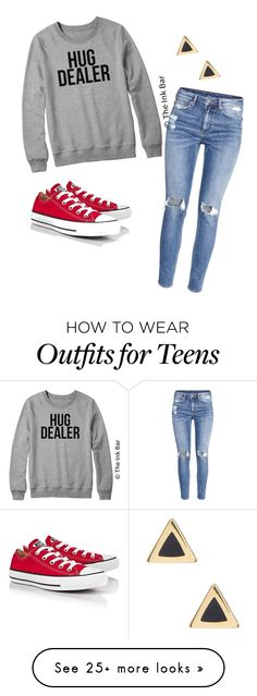 """""""hug dealer"""" by ally324 on Polyvore featuring H&M, Converse and Ariella Collection"""