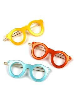 eyes in the back of your head? spotted moth | sweet spectacles hair clips.