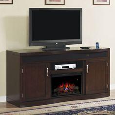 Endzone Electric Fireplace Entertainment Center in Espresso - 26TF8299-E451