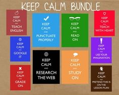 KEEP CALM Posters Bundle - Great for Teacher Gifts!
