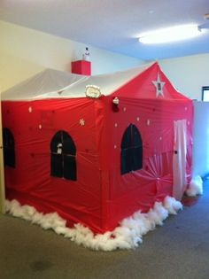 Crabby Craig's Cubicle! Office Christmas Decorations, Christmas Ideas, Xmas, Holiday Decor, Santas Workshop, Cubicle, Office Ideas, Madness, Toddler Bed