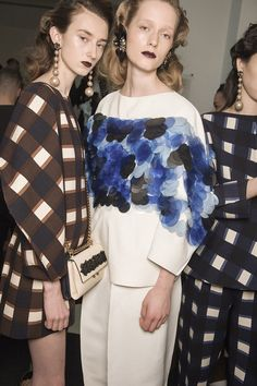 Consuelo Castiglioni continues her quest to break new ground at Marni with a collection that married their classic bold graphics with a daring new silhouette.