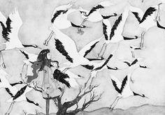 Illustration art girl anime pixiv monochrome binedit