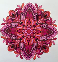 ColorIt Mandalas to Color Volume 1 Colorist: Adrienne Wolff Grossbard #adultcoloring #coloringforadults #mandalas #mandala #coloringpages