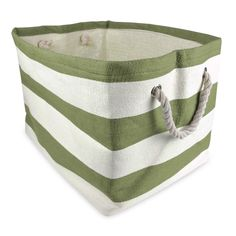 16x17x12Design Imports Woven Paper Bin in Olive Green