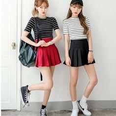 Japanese sweet pleated skirt
