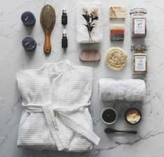 Flat lay of spa treatment set photo by Rawpixel on Envato Elements Diy Spa Day, Spa Day At Home, Flat Lay Photography, Bathroom Spa, Natural Cosmetics, Skin Care, Beauty Products, Skin Products, Natural Beauty