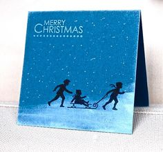 Adorable 3-minute snow scene card