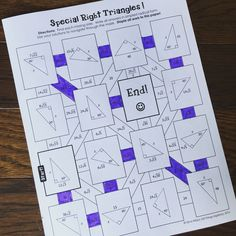 Special Right Triangles Mazes (3 versions)