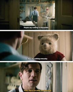Pooh is animal spirit! Winnie The Pooh Quotes, Winnie The Pooh Friends, Disney Winnie The Pooh, Disney Love, Disney Magic, Disney Memes, Disney Quotes, Disney Cartoons, Christopher Robin Quotes