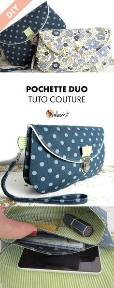Pochette Duo - Les Créations de Dehem #diy #couture #tutocouture #patroncouture