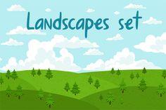 Check out Landscapes Set by Stolenpencil on Creative Market