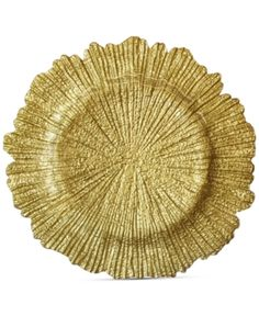 The Charge it by Jay Reef Textured Glass Gold Charger Plate adds glitz and texture to your table with its unique reef design. The lustrous gold finish of this glass charger plate enhances your table with sophistication. Gold Chargers, Charger Plates, Plate Chargers, Plates And Bowls, Gold Glass, Glass Texture, Joss And Main, Flower Shape, Glass Design