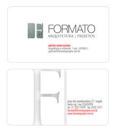 cartões de visita FORMATO ARQUITETURA E PROJETOS  por  katianey