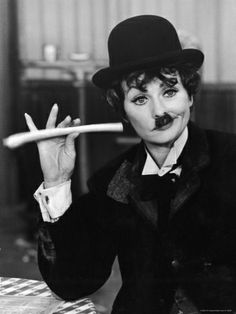 Comedien/Actress Lucille Ball imitating Charlie Chaplin on her New Year's TV show Premium Photographic Print by Ralph Crane at Art.com