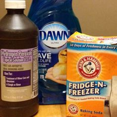 How To De-Skunk Your Dog Naturally with hydrogen peroxide, baking soda and dish soap.