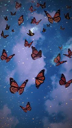Frühling Wallpaper, Iphone Wallpaper Themes, Whats Wallpaper, Nature Iphone Wallpaper, Cute Galaxy Wallpaper, Butterfly Wallpaper Iphone, Hippie Wallpaper, Iphone Wallpaper Tumblr Aesthetic, Glitter Wallpaper