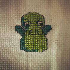 Chutlhu bordado en Punto de cruz #embroidery