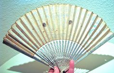 Japanese Meiji era hand fan Japanese folding fan by Vinphemera