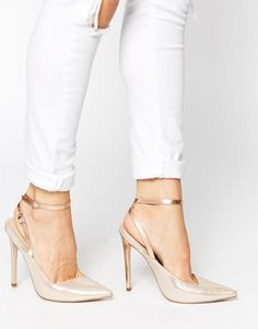 ASOS+PLAY+ON+WORDS+Pointed+High+Heels