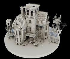 ArtStation - 3D Swamp House, Darren Colley