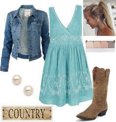 country outfit ii by natihasi on polyvore i like the dress for an