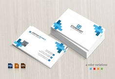 Business Card Templates An informative and creative corporate business card design, simple and elegant suitable for any kind by BettyDesign Business Card Template Word, Blank Business Cards, Printable Business Cards, Business Card Psd, Elegant Business Cards, Business Card Design, Corporate Business, Creative Business, Visiting Card Design Psd