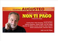 """Luca De Filippo debutta il 23 ottobre al Teatro Augusteo con lo spettacolo """"Non ti pago""""   Report Campania"""
