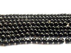 Black Tourmaline Beads Black Tourmaline Plain by gemsforjewels
