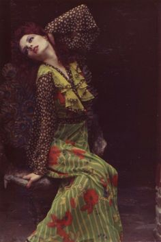 Inspirational Images: Gala Mitchell wearing Ossie Clark
