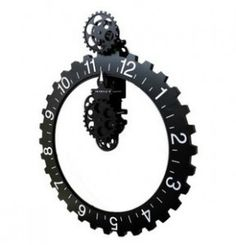 Holy crap, shut up and take my money. Functioning gear wall clock, $70