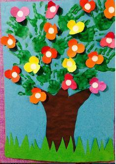 handprint spring tree craft
