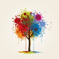 """Splashed Tree"", vector graphic by DryIcons.com - available with Free, Commercial and Extended License"