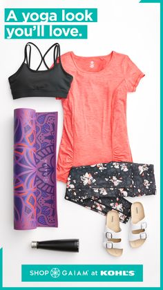 Refresh your yoga wardrobe with a new outfit from Gaiam. From spring must-haves . Refresh your yoga wardrobe with a new outfit from Gaiam. From spring must-haves like colorful tops and floral leggin Floral Leggings, Women's Leggings, Cute Casual Outfits, New Outfits, Dress Design Drawing, Stitch Fix Outfits, Yoga Tops, Amazing Women, Water Bottles