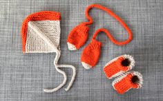 The wonderful world of craft blogs!  I would switch the colours on the hat so he looks like a fox!