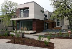 The Green + Wired Smart home in Chicago featuring Warmboard radiant floor heating.