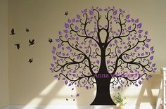 Large tree82 wall decals children wall decalsvinyl by annaandnana, $72.00