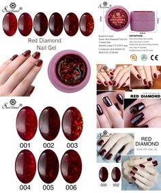 [Visit to Buy] Saviland 8ml 3D Red Diamond Glitter Shining Gel Lacquer Soak Off Long-lasting LED UV Nail Gel Polish DIY Nail Art Style Lak #Advertisement