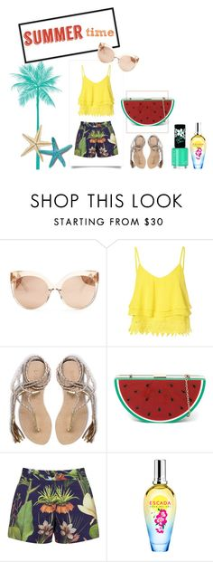 """""""summer style"""" by mawaddah-khairunnisa on Polyvore featuring Linda Farrow, Glamorous, L*Space, Penfield, ESCADA and Rimmel"""