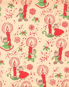 Vintage Christmas Wrapping Paper ~ Gifts for Dads, circa 1950's ...