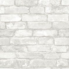 Grey and White Brick Peel And Stick Wallpaper & Reviews   AllModern