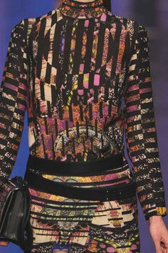 PRINTS, PATTERNS AND SURFACE EFFECTS FROM MILAN FASHION WEEK / 6  Details from womenswear collections fall/winter 2013/14.   Etro