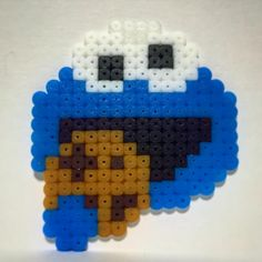 Cookie Monster perler beads by  kayochicken                                                                                                                                                      More