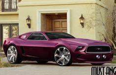 Purple 2014 Mustang - Wow!